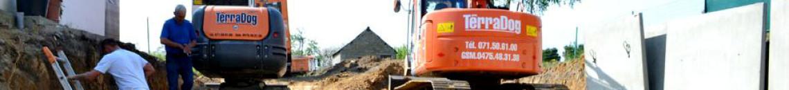 Terradog - terassement - pavage - entrepreneur - terrassement - parking